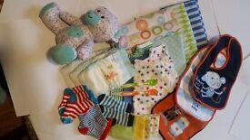 newborn stuff, 0-3month, body, napkins, tedy ALL BRAND NEW