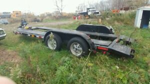Tandem Axle Car trailer with winch