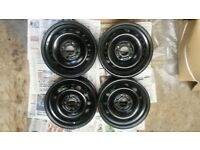 4x 14 inch ford steel rims also fits Mazda 2