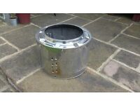 Fire pit, outdoor fire, washing machine drum