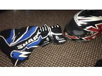 Ladies helmet xs & gloves small