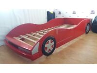 Boys red racing car bed frame