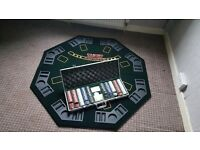 Poker table and chips