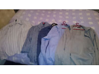 5x Mens Formal Double Cuff Shirts