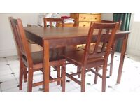 sofa, corner sofa, table (nest, coffee and dinning with 4 chairs), 2 bar stool &king size bed frame