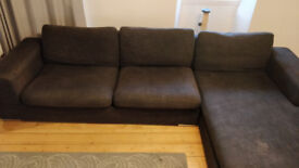 Dwell Corner Sofa (Right Hand) Charcoal, Used Condition.