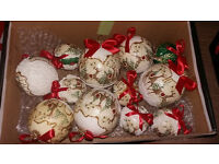 Box of 12 Handmade Christmas Baubles - Perfect gift