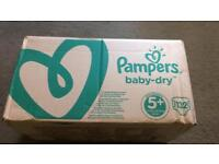 Pampers baby dry nappies 5+ box of 132