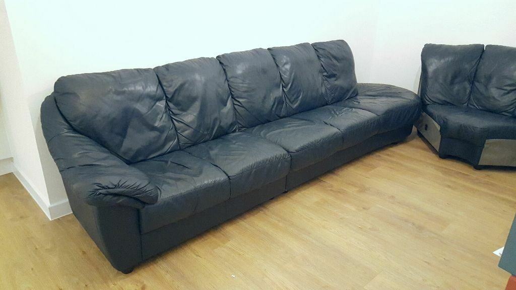 real leather Ikea corner sofa FREE DELIVERY