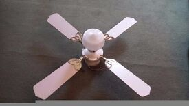 Ceiling mounted light and fan good condition complete with fixing bracket