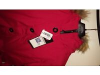 CANADA GOOSE LADIES PARKA RED BRAND NEW WITH TAGS**REDUCED**NOW ONLY £35