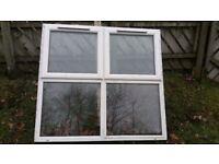 ******White PVC double glazed window*****