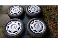 """Mercedes C Class 15"""" steel wheels + tyres"""