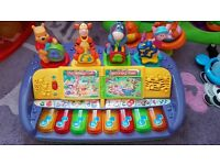 baby piano and toys