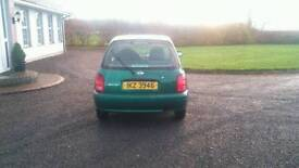 Nissan micra with nearly a full years test