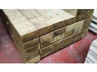 🌟 Pressure Treated Timber/Wood Railway Sleepers / Garden Borders / Fencing