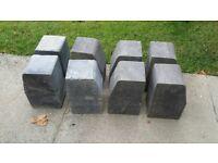 8 large Charcoal Kerb Blocks