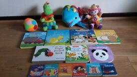 Baby books and toys