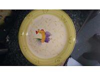 Dinner set plates, bowls ,mugs, chicken design