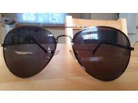 Ladies aviator style sun glasses