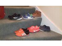 Boys size 1 footwear bundle. nike, adidas, next, crocs