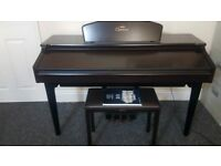 yamaha clavinova cvp 105 in dark rosewood 88 weighted keys