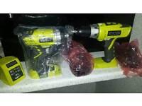 Brand new ryobi impact and hammer drill
