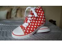 GIRLS RED AND WHITE BOOTS FROM NEXT
