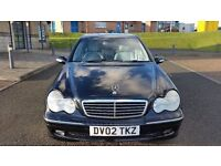 2002 MERCEDES C220 CDI BLACK 11 MONTHS MOT (PART EX WELCOME)