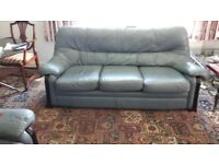 FREE: Leather three piece suite: sofa + 2 chairs. (Moving home clear out sale! Lots of bargains)