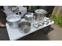 Assorted catering pans and serving dishes