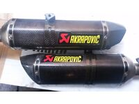 R1 Big Bang Akrapovic exhausts fits years 09 10 11 12 13 14
