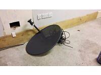 Sky satellite dish and box