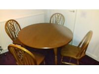 Reduced - Solid wood dining table and chairs