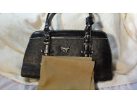 Brand New Prada Handbag Hand Bag Black Leather with Cover