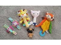 Baby's rattle soft toy bundle