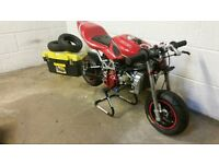 minimoto GRC Mini moto with very fast BZM water cooled engine