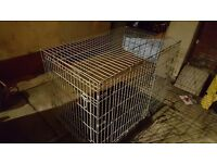 Dog cage with tray. Large Dog /rotty.