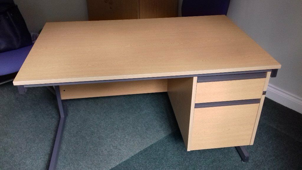 Small Office Desk 1200 Wide With 2 Right Hand Side Lockable Drawers