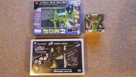 Utility Belt Spy Set & Variety Tricks Magic Set & Dinosaurs Trivial Pursuit