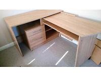 Convertible computer desk/work desk