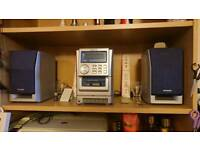 AIWA radio, CD player, 2 speakers in excellent condition