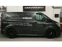 Van/car vinyl sign writing (decals & company names)