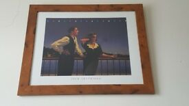 "Framed Jack Vettriano print ""Midnight Blue"""