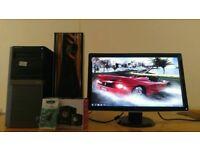 "QUICK & FAST SSD Dell Optiplex 980 Quad Core CAD Desktop Computer PC With Dell 24"" LED"