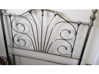 Metal Headboard for double bed (4ft 6 ins)