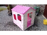 Pink wendy house for sale