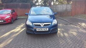 Vauxhall Zafira Life 1598cc Petrol Blue with two previous owners