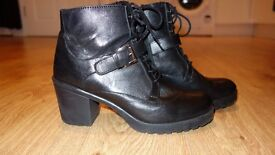 DUNE leather boots, size 8