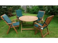 FOLDING GARDEN TABLE & CHAIRS £110